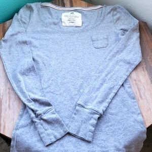 Poof Excellence Gray LS T-Shirt w/Tiny Pocket   L
